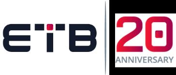 ETB 20 anniversary logo